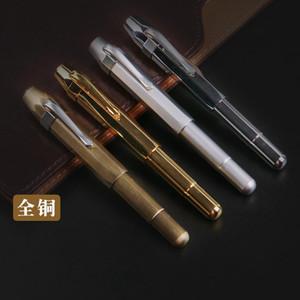 High Quality Vintage Brass Fountain pen ink pen nib Metal Stylo plume Stationery Caneta tinteiro Vulpen Penna stilografa 03876