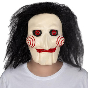 Patygr Jigsaw Saw Billy Puppet Face Mask Halloween Cosplay Guy Costume Prop Masquerade