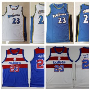 Männer 23 Michael Jor Dan WashingtonKugelZaubererRetro Basketball-Jersey.