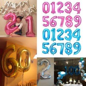 """40 pouces 40 """"Big Feuille Nombre de ballons Balloons Numéros géants 0-9 Ballons de balles flottants pour la Saint Valentin Jour Annonce Partie de fête Nouvel An Décor E122301"""