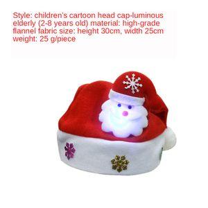 Décorations de Noël adulte rouge normale chapeau du Père Noël / chapeau de Noël pour les enfants