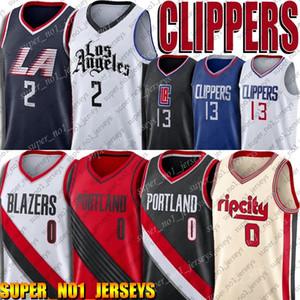 Clipper Kawhi 2 Paul Leonard George Jersey 0 Damian Lillard Carmelo Anthony maglie PortlandTrail BlazersCamicie Jersey