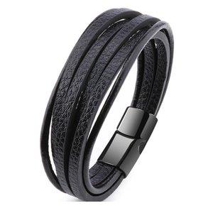 Zoshi Mens Leather Wrap Bracelet Cool Genuine Leather Bracelet For Women Men Multilayer Braided Rope B bbyqjr