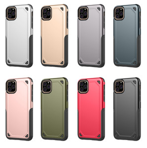 For iPhone12 ProMax 11 8P XsMax Armor PC Full Cover Phone Case Shockproof Protective Cover Shell