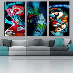 Nordic Style Graffiti Women Portrait Oil Painting Poster and Photo Wall Decoration Living Room Canvas Painting Home Decoration