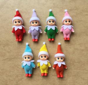 Freies Verschiffen 10 PCS / LOT PCS Baby-Elf Puppen mit Füßen Schuhe Elf Spielzeug mit beweglichen Armen und Beinen Christmas Baby Elfen Puppe