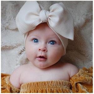 10 ألوان طفل كبير القوس الفتيات العصابة 7 بوصة كبيرة bowknot headwrap الاطفال القوس للشعر القط القطن واسعة رئيس العمامة الرضع الوليد رباطات