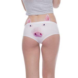 New Arrvial Women Fashion Ear Kawaii Pig 3D Printing Sexy Panties Woman Underwear