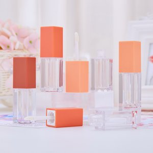 4ML Plastic Lip Gloss Empty Tubes Frosted Square Lip Glaze Bottle Makeup Packaging Lipstick Case WB2847