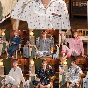 Zale Moda Unissex Verão flor de seda Impresso Sleepwears Exquisite Noite Descontraído curto Impresso Pajama Define Casal Moda Flower Sleeve Sle