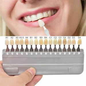 الأسنان 3D الظل دليل الأسنان الظل مخطط المجلس اللون المقارنة W / مرآة الباردة الضوء الأبيض تبييض الأسنان لوحة تبييض الأسنان