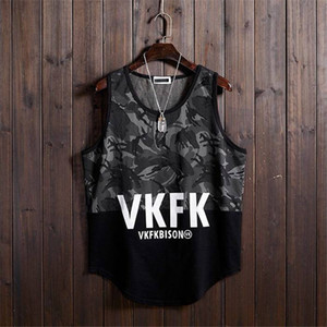 Hip Hop Tank Tops For Men Casual Summer Letter Print Sleeveless Shirts Male Clothing Fitness Sportwear Tank Tops Funny Tanks