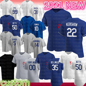 2020 Los Nouvelle saison Angeles Baseball Jersey Cody Bellinger 22 Clayton Kershaw 50 Mookie Betts Justin Turner Mike Piazza Hernandez Seager Ryu