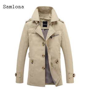 Men's wallpaper fashion simple button long jacket coat men's autumn jacket overcoat men