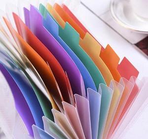 13 Grids A6 Document Bag Cute Rainbow Color Mini Bill Receipt File Bag Pouch Folder Organizer File Hold bbyZXc yh_pack
