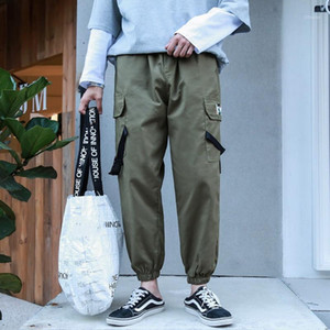 Streetwear Men's Multi Pockets Cargo Harem Pants Hip Hop Casual Male Track Pants Joggers Trousers 2020 Fashion Harajuku Men Pant1
