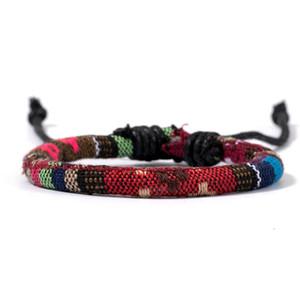 FEI Doca New Fashion Bohemian arco-íris colore trançado Leather Charm Handmade Amizade Homens Mulheres nepalês Nation Pulseira qylarB