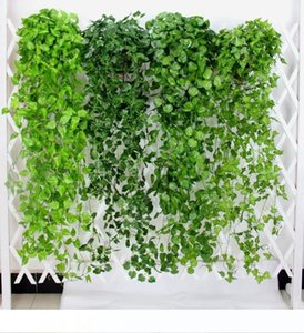50pcs Artificial Ivy Garland Foliage Green Leaves Fake Hanging Vine Plant for Wedding Party Garden Wall Decoration Home Decor