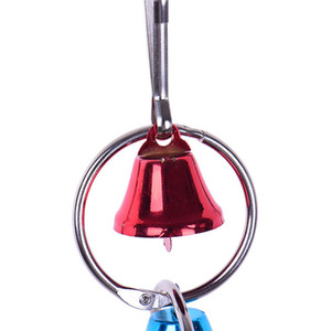 Novelty Colorful Interesting Durable Parrot Bird Metal Ring Bell Toy Hanging Cage Squirrel Parakeet Birds Accessories HHE4090