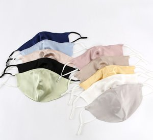 Designer Masks Silk Mask insert with filter piece hanging ear type washing mulberry silk dust mask