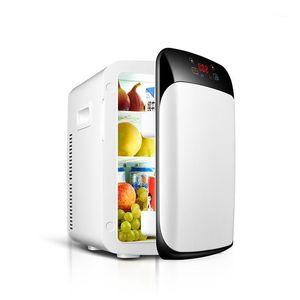 Автомобильный холодильник 15L 12V / 220V двухъядерный цифровой дисплей мини холодильник нагрев портативный кулер коробка путешествия авто холодильник1