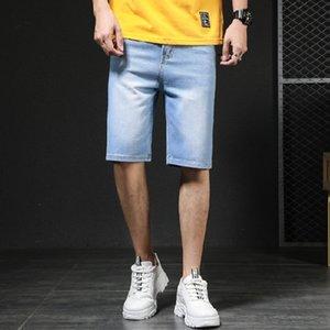 yDqFg Geek principal été push nouveau short denim hommes trous slim tendance Neuf neuf cheville longueur Shorts pantacourt mince avec l'étudiant occasionnel