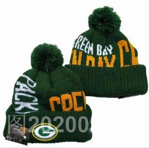 Luxury Striped Sideline Design GREEN BAY Beanies Sport Cuffed Knit Hat Wool Bonnet Warm Cheap Hip Hop Knitted Skull Caps for Men Women a3