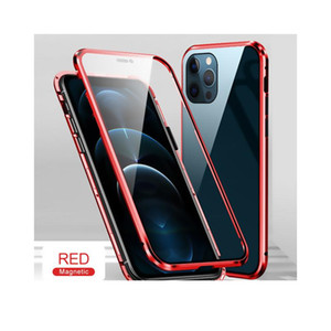 For Iphone 12 Mini Case 360 Magnetic Phone Cover For Iphone12 Pro Max Aifon 12pro 12mini Double Sided Tempered Gla jllmXe