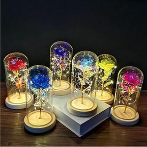 Сусального золота гальваническим Роуз очки Обложка LED иммортель Бессмертный купола XAMS Креативность партия подарков Новогоднее украшение IIA759