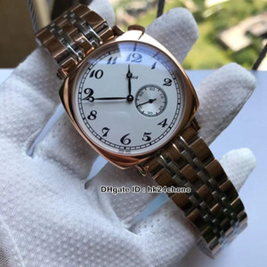 Nuevas historias estadounidenses 1921 82035 / 000R-9359 Reloj de oro automático Caja de oro rosa Dial blanco Gents Relojes Strap de acero inoxidable