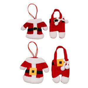 Noel Süsleri Çatal Çanta Hotel Restaurant Masa Süsleri Çatal Seti Hediye Çanta Noel Küçük Giyim Pantolon Çanta 120set T1I2598