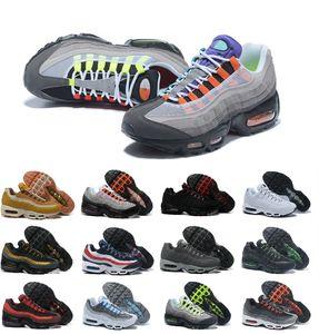 2021 Ultra 95 OG X 20º Aniversário Homens Correndo Tênis Triple Neon Neon Solar Luxo Vermelho Designer Air Sola Cinza Treinadores Azul Esportes Sapatos