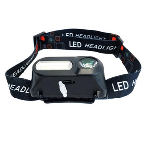 Multi-function USB interface charging head light COB outdoor emergency head-mounted 18650 battery lighting