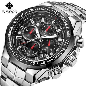 Wwoor de alta calidad siete aguja hombre movimiento sección de acero trae cuarzo impermeable muñeca2021 reloj relojes cronógrafo relojes al por mayor relojes