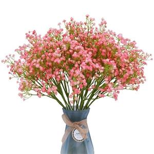3Bunches 90Heads Babies Breath Artificial Flowers Plastic Gypsophila DIY Floral Bouquets Arrangement Wedding Home Decor 52cm