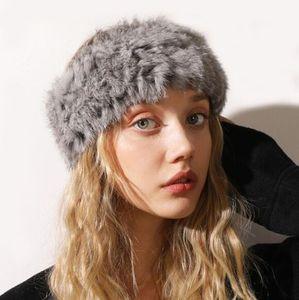 2020 neue Frauen arbeiten Stirnband-Mädchen-Stirnband-Pelz Straw Warm Plüsch-Haar-Band Retro Kopf-Band-Dame-Haar-Zusätze