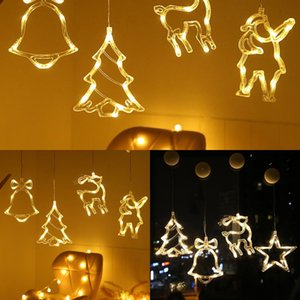 LED Hanging Curtain Lights String Net Party Home Decor Christmas Ornament 2020 Xmas Gift New Year 2021