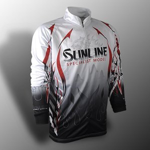 Sunline summer casual fishing shirt long sleeve fishing clothing breathing dry anti ultraviolet sports outdoor sports fishing clothing