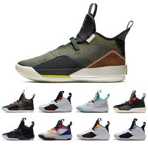 2019 erkek basketbol ayakkabı xxxiii pf 33 All-Star Yüksek kaliteli yardımcı program Blackout guo ailun 33s Çin Yeni Yıl Gri Yelken Sneakers