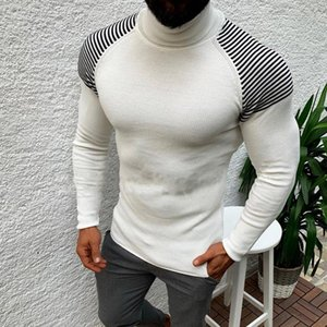 2020 Sweater Men Pullover Sweater Casual Male Knitted Clothes Plus Size Autumn Wineter Turtleneck Slim Fit Warm Tops