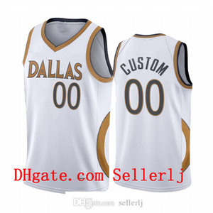 S-6XL Men 30 Curry 6 Porzingis Luka Doncic DallasMavericksWhite Edition Gold silver logo 2020-21 Jersey