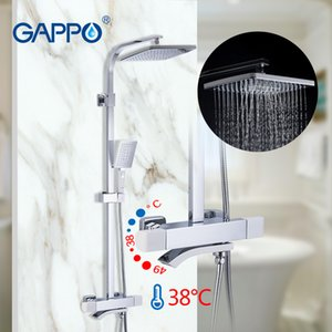 GAPPO thermostatic sets bathroom hot and cold mixer Brass faucet Bathtub system Waterfall shower 201110