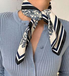 2020 Nouveau femmes soie Foulard Foulard Echarpes cheveux Lady Design Sac écharpe Bandeau Mouchoir Mode Femmes fille bande cheveux