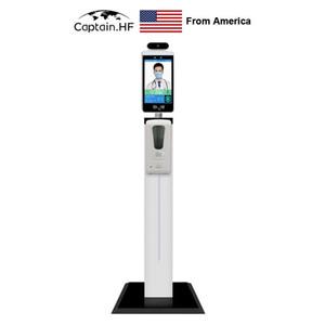US capitano di controllo di accesso per l'ingresso, Face Recognition, Passaggio da Face ID, IR senza contatto termometro dell'ente, sistema multilingue