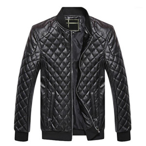 Mens Leather Jackets Autumn Winter PU Coat Men Plus Velvet Outerwear Biker Motorcycle Male Classic Black Jacket M-4XL1