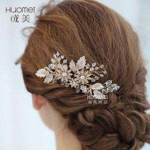 NPASON 2020 Haarschmuck Modeschmuckgeschäft schöne Brauthochzeitskleid Kristall Kamm heiße Hochzeit Schmuck Haar 811