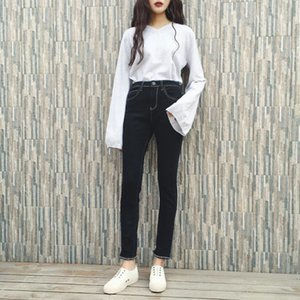 Jeans Women's Winter Pants High-waisted Tights Women's Jeggings Warm Pants for Women