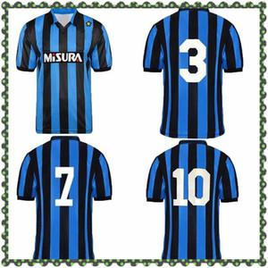 1988 1989 BREHME BERGOMI MATTHAUS Retro Soccer Jersey Inter 88 89 Berti Zenga Serena Klinsmann Chemise de football classique Vintage