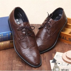 movechain Classical Men's Dress Wedding Flats Man Business Office Oxfords Mens Casual Leather Vintage Carved Brogue Shoes