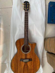 Cutaway Chaylor Vintage K24 Koa violão folk, K24ce acústica elétrica Koa violão folk madeira, frete grátis